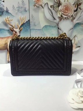 chanel bag high quality Black original leather ladies shoulder bag new