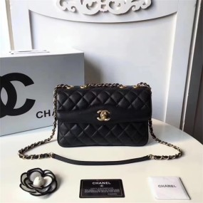chanel bag high quality Shoulder bag arc shaped ladies handbag