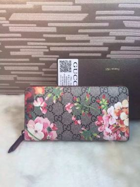 printing PVC red hot selling new flowers, long zipper wallet, fashion casual PVC material wallet wallet