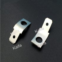100pcs/lot 6.3  bilateral double insert the capacitance inserts square molding curved foot plug spring terminals