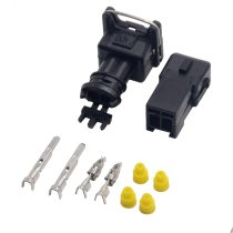10 set EV1 Fuel Injector Plug   Car Waterproof 2 Pin way Electrical Wire Connector Plug automobile Connectors Free shipping