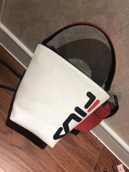 FILA Bucket Bag Handbag Messenger Bag Fashion Shopping Leather Tote
