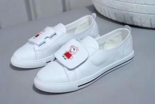 Leather pig page flat breathable spring wild white shoes