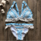 Sexy Lace Patchwork Swimsuit Bikinis Set RT-LX99