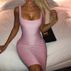 Sexy Sleeveless Bodycon Tank Dresses SUM-92367